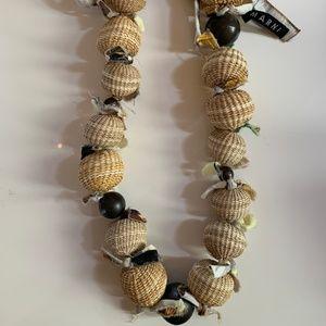 Marni Raffia Bead & Cotton Tie Necklace